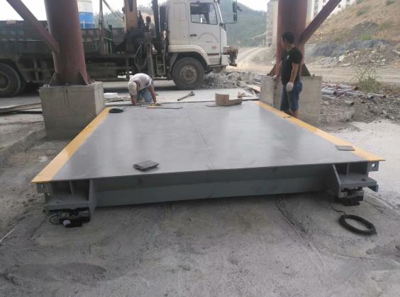 惠州石粉厂地磅安装案例